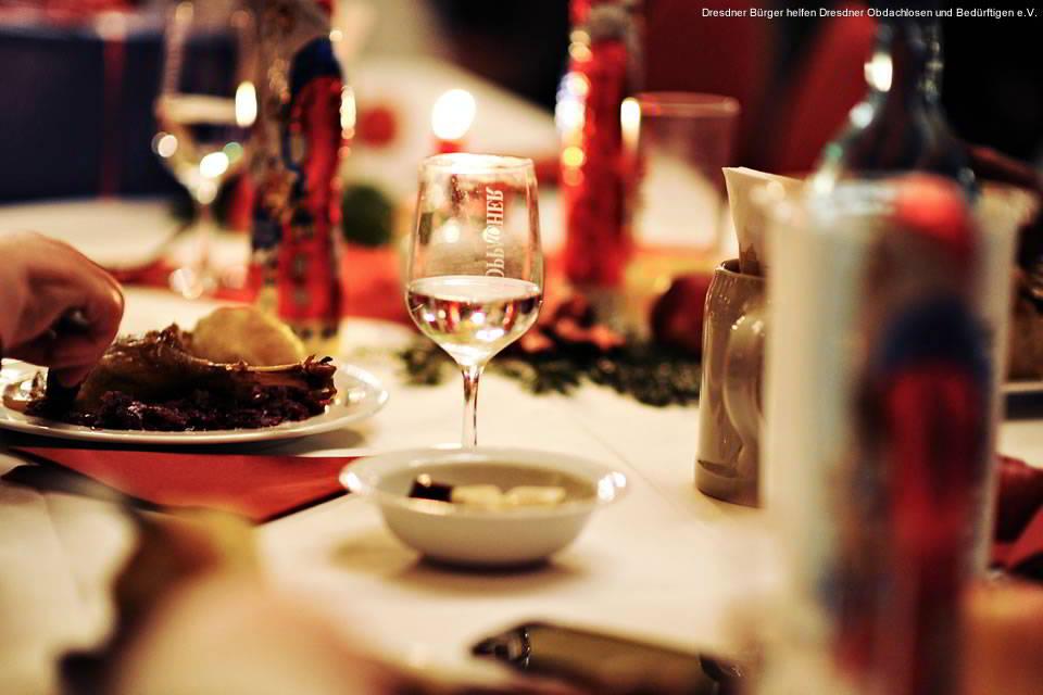 Dresdner Weihnachtsessen für Obdachlose und Bedürftige