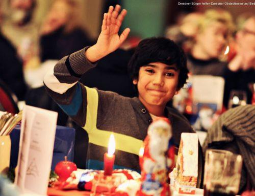 Das 1. Dresdner Weihnachtsessen für Obdachlose und Bedürftige
