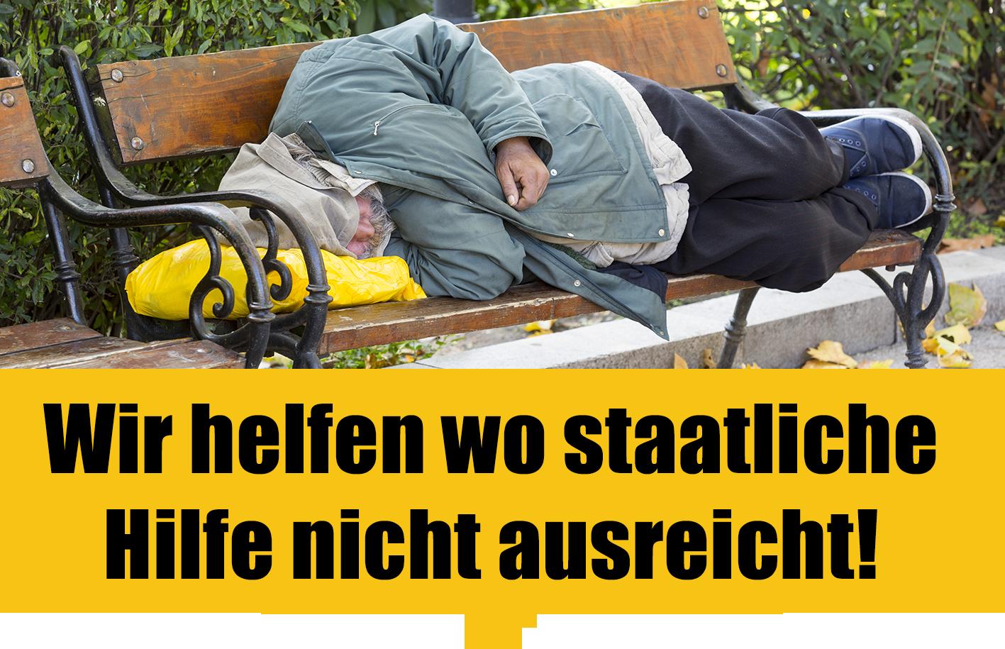 Hilfe für Obdachlose und Bedürftige in Dresden