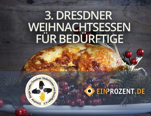 Video zum 3. Dresdner Weihnachtsessen für Obdachlose und Bedürftige